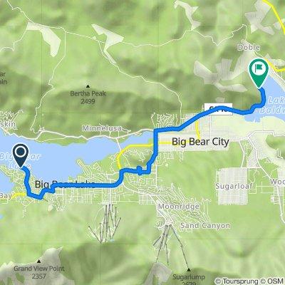121 Lagunita Ln, Big Bear Lake to 659–667 N Shore Dr, Big Bear City