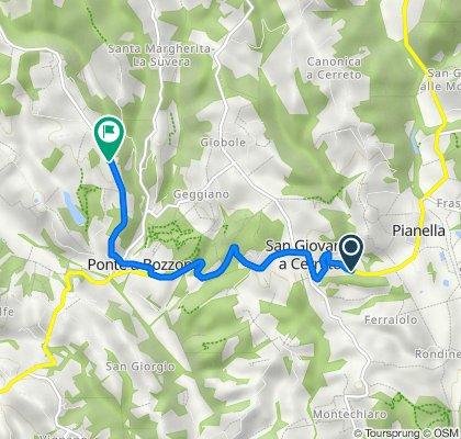 Da Strada Chiantigiana, Castelnuovo Berardenga a Località Pontignanello, Castelnuovo Berardenga