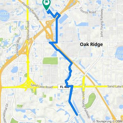 5036 Creekside Park Ave, Orlando to 5012 Creekside Park Ave, Orlando