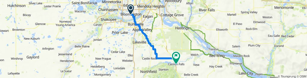 bloomington to cannon falls