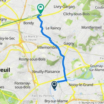 De 5 Allée de la Pépinière, Bry-sur-Marne à 7 Allée du Canal, Les Pavillons-sous-Bois