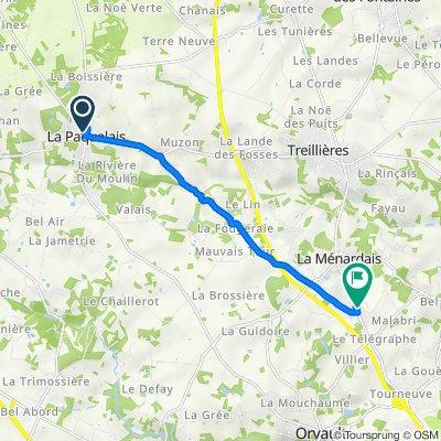 De Rue Anne de Bretagne 77, Vigneux-de-Bretagne à Chemin du Fort l'Évêque 4, Treillières