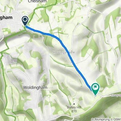 644–646 Limpsfield Road, Warlingham to Botley Hill Farm, Limpsfield Road, Warlingham
