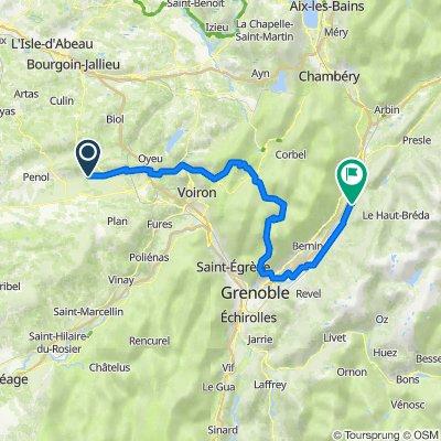 De 725 Route des Alpes, Saint-Hilaire-de-la-Côte à 20 Grande Rue, Goncelin