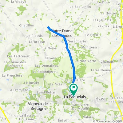 De Rue Anne de Bretagne 77, Vigneux-de-Bretagne à Rue Anne de Bretagne 69, Vigneux-de-Bretagne
