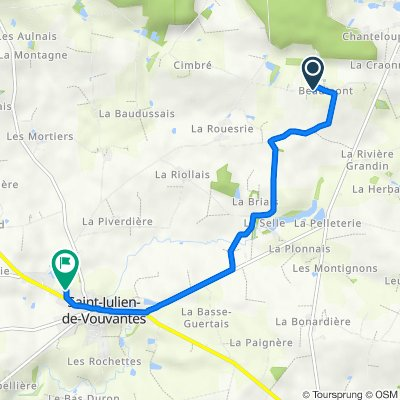De Beaumont, Saint-Julien-de-Vouvantes à 6bis Rue de Rolieu, Saint-Julien-de-Vouvantes