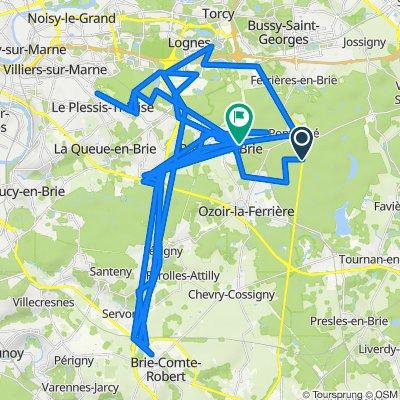 De D471, Pontcarré à Avenue du Maréchal Gallieni 8, Roissy-en-Brie