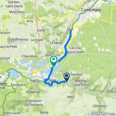 Itinéraire à partir de 63 Place de l'Église, Saintines