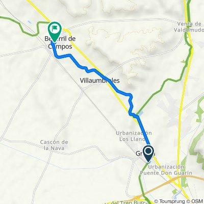 Ruta a Calle de Capillas San Pedro, 2–4, Becerril de Campos