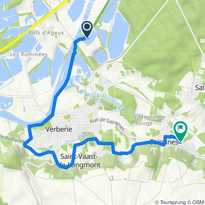 Itinéraire vers 63 Place de l'Église, Saintines
