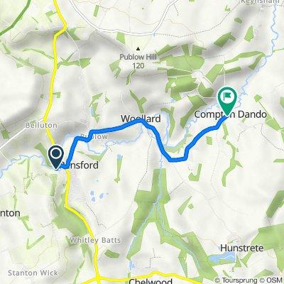 Mill Corner, Church St, Bristol to Court Hill, Compton Dando, Bristol