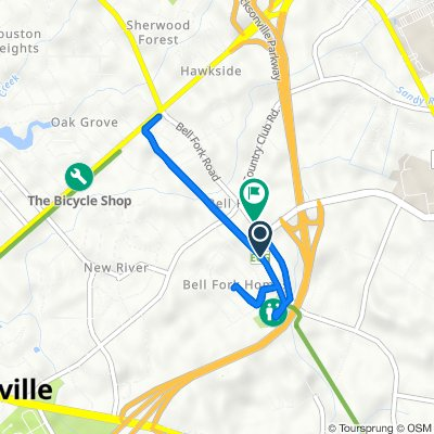 Bell Fork Road 352, Jacksonville to Bell Fork Road 323, Jacksonville