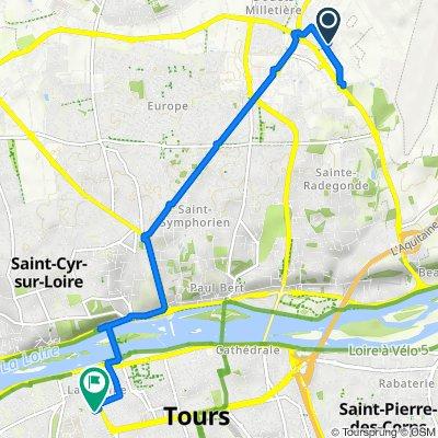 De Rue Germaine Richier, Tours à 7 Rue Adrien Deslondains, Tours