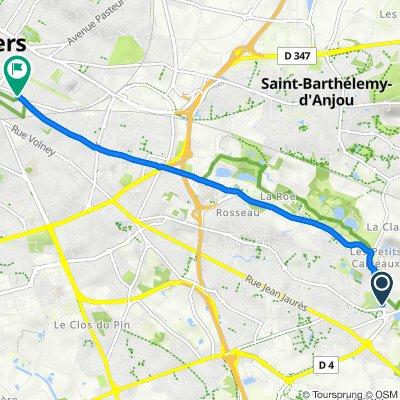 26 Boulevard André Dautel, Trélazé nach 38 Rue Hanneloup, Angers