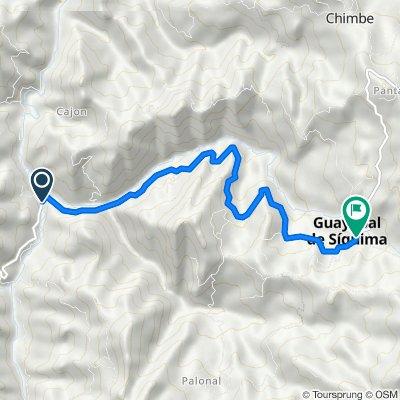 De Guayabal De Síquima-Bituima a Carrera 3 1s168, Guayabal de Síquima