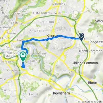 Caxton Business Park, Crown Way, Bristol to 174 Wick Road, Bristol