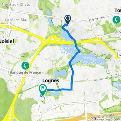 De 2 Allée du Mascaret, Torcy à 55B Boulevard du Mandinet, Lognes