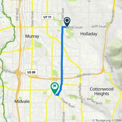 Route to 990–998 E Taliesen Cove, Midvale