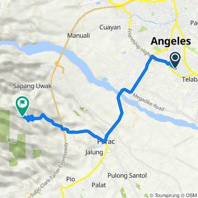Miracle Avenue 1820, Angeles to 3FQP+R5P, Porac
