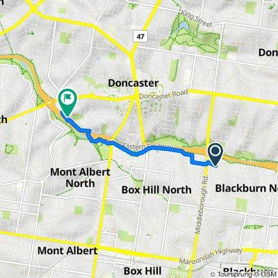 9 Vivian Street, Blackburn North to 8 McLeod Street, Doncaster
