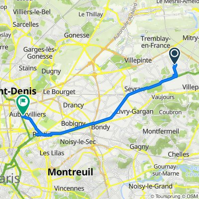 De 10 Rue de Richelieu, Mitry-Mory à 27 Rue Heurtault, Aubervilliers