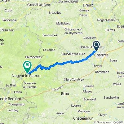 Rue de l'Arsenal 12, Mainvilliers to Rue de l'Église 5, Arcisses