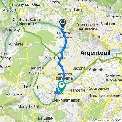 De 35 Rue du Petit Pont, La Frette-sur-Seine à 3 Place Louis Renault, Rueil-Malmaison