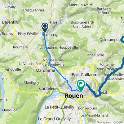 De 1–28 Place Jean Moulin, Malaunay à 41 Boulevard de Verdun, Rouen