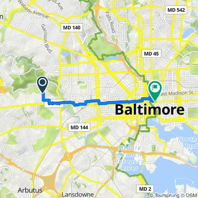 4102 Rokeby Rd, Baltimore to 418 Colvin St, Baltimore