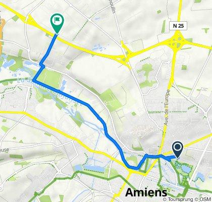 De 32 Rue des Bonnards, Amiens à 52 Rue des Archicamps, Amiens