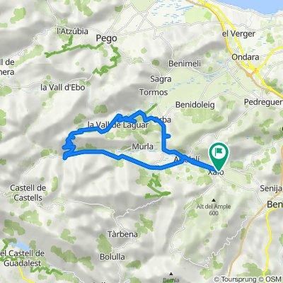 La Marina Alta: vall de Pop i vall de Laguar