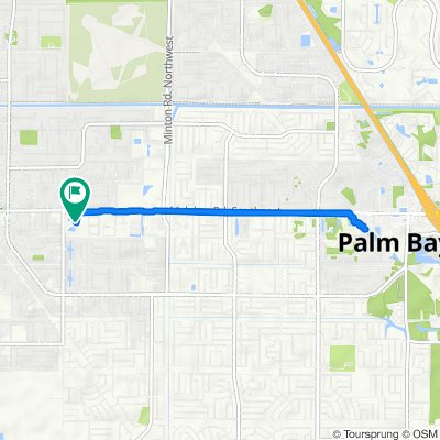 Route from 510 Malabar Rd SW, Palm Bay