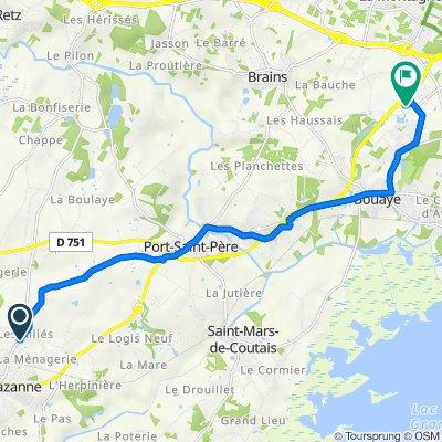 De Impasse des Alliés, Sainte-Pazanne à Rue des Pampres, Bouaye