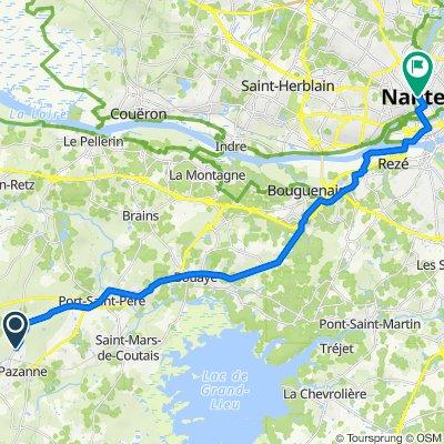 De Impasse des Alliés, Sainte-Pazanne à 40 Rue de Strasbourg, Nantes