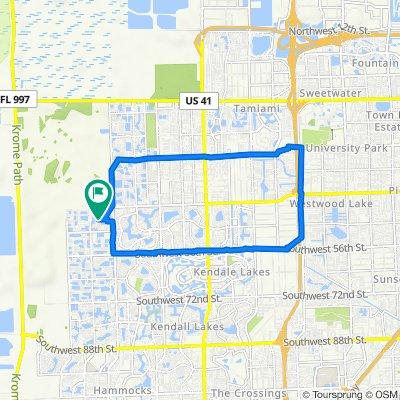 15981 SW 44th St, Miami to 15961–15985 SW 44th St, Miami