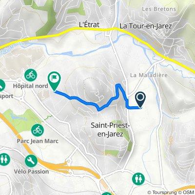 De 4 Rue Léo Lagrange, Saint-Priest-en-Jarez à 10A Rue de la Piot, Saint-Priest-en-Jarez