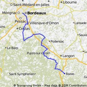 Bordeaux - Saucats - Portets - St-Michel-de-Rieufret - Bazas ...