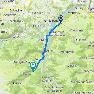 De Impasse du Verger 8, Fontenay-le-Vicomte à Route d'Etampes 42, D'Huison-Longueville