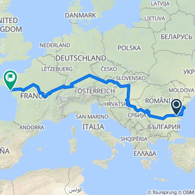 Eurovelo 6 Atlantic-Black Sea Route