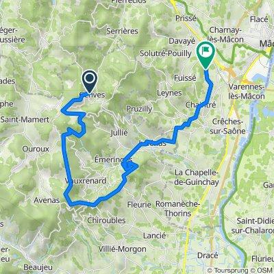 De Le Bourg, Cenves à Chemin des Bruyères, Mâcon