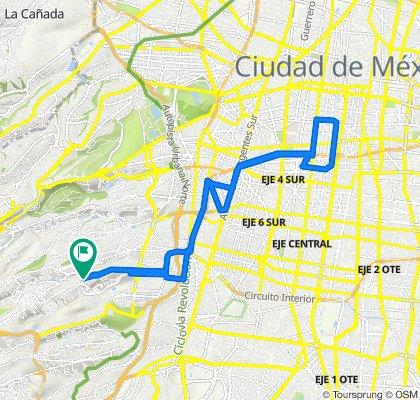 De Rinconada Centenario 28, Ciudad de México a Rinconada Centenario 20, Ciudad de México