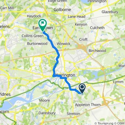 Route to Sankey Valley Industrial Estate, Anglezarke Road, Newton-Le-Willows