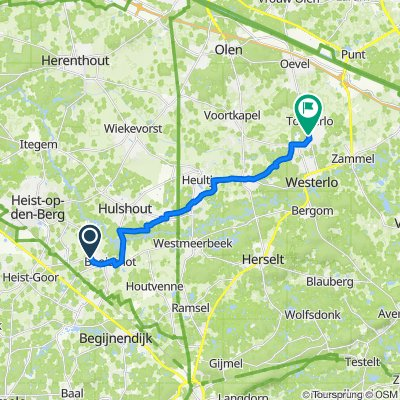 Heistseweg 7, Heist-op-den-Berg naar Tongerlodorp 15E, Westerlo