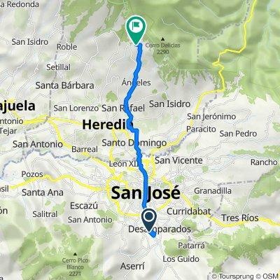 De Urbanización Jorco, Desamparados a El Tirol, Montecito
