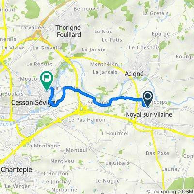 De 19 Rue Antonio Vivaldi, Noyal-sur-Vilaine à 15 Rue de Belle Épine, Cesson-Sévigné