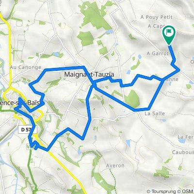 St.Jouanet to Valence s. Baise via Maignaut-Tauzia 1st Sept 21