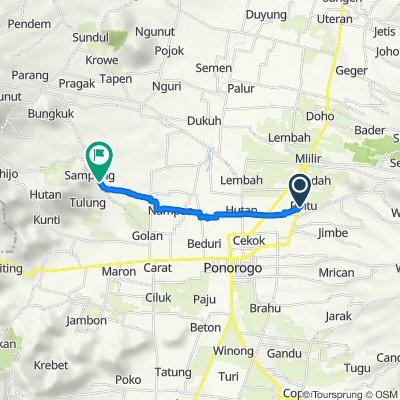 Jalan Serayu no.30, Kecamatan Jenangan to Jalan Raya Sampung