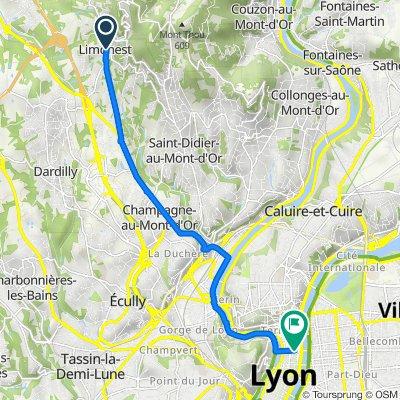 De 225 Avenue du Général de Gaulle, Limonest à 25 Rue de la République, Lyon