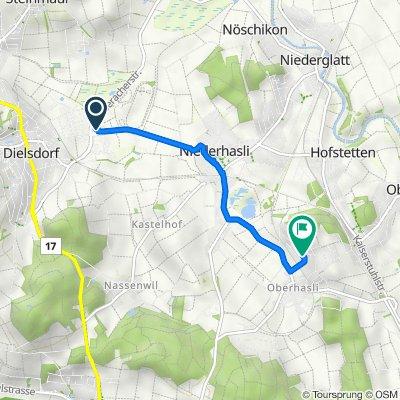 Niederhaslistrasse 7, Dielsdorf nach Mattenweg, Oberhasli