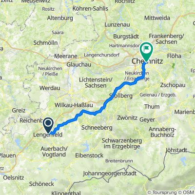Straße der Freundschaft 5, Lengenfeld nach Annenstraße 23, Chemnitz